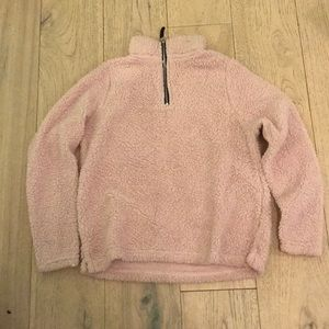 Bobbie Brooks Teddy Sherpa Sweater Jacket Pink M